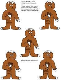 happy birthday jesus gingerbread hanging ornaments jpg