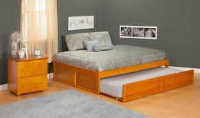 Full Size Trundle Bed Total Fab Twin Bed With Pull Out Slide Out Trundle Throughout