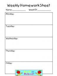 best 25 weekly homework sheet ideas on pinterest homework sheet