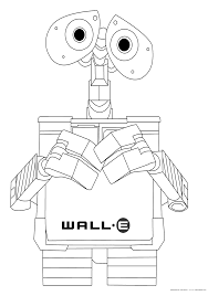 free printable robot coloring pages for kids inside wall e