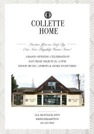 collette home hosts grand opening saturday march 18th kdhamptons