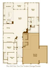 house plans tandem garage house plans