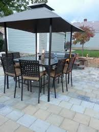 Patio Table Seats 8 Mainstays D U0026apos Roma 10 Piece Gathering Height Patio Dining Set