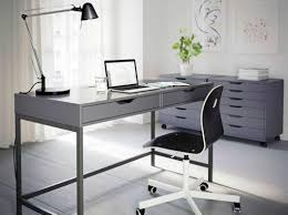 chic home office furniture interior glass office computer desk