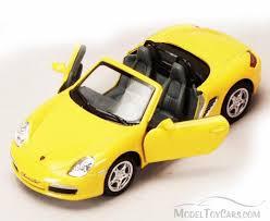 Porsche Boxster Convertible - porsche boxster s convertible yellow kinsmart 5302d 1 34