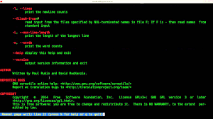 Count No Of Words In Unix Count Words Lines And Character In A File Linux Shell Script