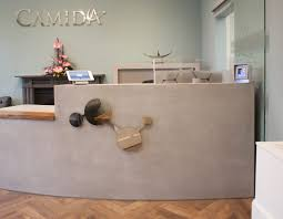 Concrete Reception Desk Concrete Fair Polished Concrete Furniture