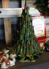 vintage ceramic christmas tree home for christmas decor at the blue building