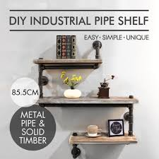industrial wall shelving industrial pipe shelving bookshelf rustic wood ladder pipe wall