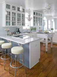 appliances simple galley kitchen design showing brown cabinets