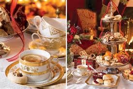 christmas tea party enjoy the blissful hours dedicated to the ceremony of afternoon