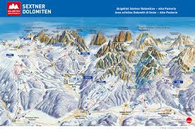 Italy Mountains Map by Alta Pusteria Dolomites Ski Region Adventureaustria