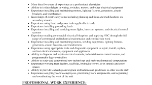 Resume Of An Electrician Unforgettable Journeymen Electricians Resume Examples To Stand Out