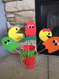 Construction Themed Centerpieces by 27 Best Pacman Party Decor Banners Centerpiece Picks Favor Tags