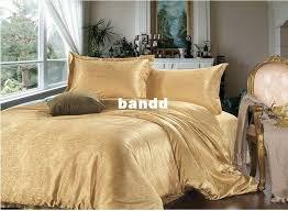Silk Duvet Set Luxury Bedding Sets King Size Orange Duvet Cover Sets Dobby Gold