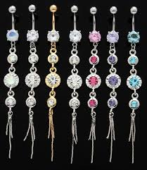 belly rings long images Round waterfall design long dangle belly button navel ring jpg