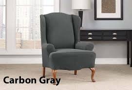 Wing Chair Cover Good Wingback Chair Slipcover Wing Chair Slipcover Standard