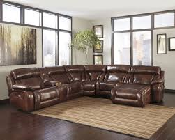 living room elegant ashley leather sectional sofa for comfortable