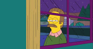 Squinty Eyes Meme - suspicious ned flanders is joined by actor leonardo dicaprio and fry