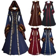 Medieval Halloween Costumes Renaissance Medieval Cotton Costume Pirate Boho Peasant Wench