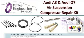 audi a8 s8 q7 wabco air suspension compressor pump seal repair kit