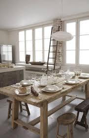 table en bois de cuisine déco cuisine cagne 12 idées au top côté maison