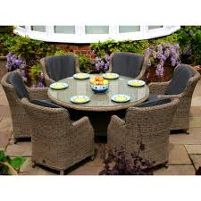 Round Dining Room Tables For 6 Round Outdoor Dining Sets