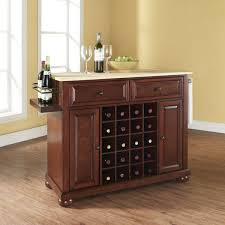 how to turn your kitchen island into a home bar u2013 the rta store
