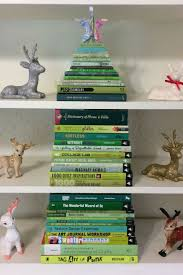 are using their favorite books to make trees