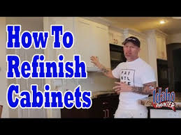 How To Refinish Kitchen Cabinets With Paint How To Paint Or Refinish Kitchen Cabinet Doors Cabinet Painting