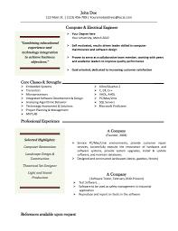 Electrical Engineer Resume Template Resume Work Experience Example Employment Resume Sample Resume