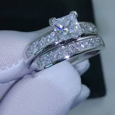 cheap princess cut engagement rings choucong valueable princess cut 5a zircon 10kt white