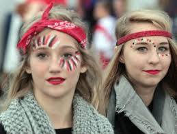 awesome football game face paint ideas google search