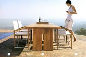 Teak Outdoor Dining Tables Walters Nyc Designer Furniture Showroom In The Nyc