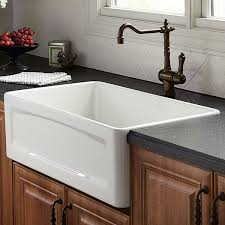 Cheap Farmhouse Kitchen Sinks Kitchen Farm Sink Hillside 30 Inch Wide Apron Kitchen Sink From Dxv