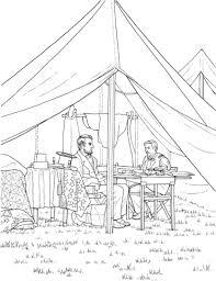 abraham lincoln officer tent civil war battle