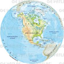 North America Map by Geoatlas Globes North America Map City Illustrator Fully