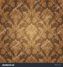 golden floral wallpaper old style retro stock vector 163555982