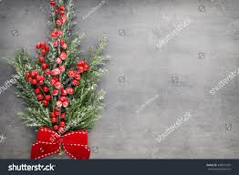 branch decor christmas tree branch decor on vintage stock photo 348091292