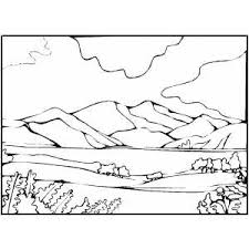 coloring pages for landscapes drawn mountain coloring page pencil and in color drawn mountain