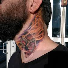 hand of zombie neck tattoo best tattoo ideas gallery