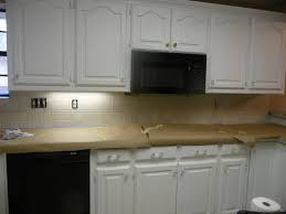 kitchen painted tile backsplash cover those ugly tiles make do and