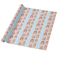 anime wrapping paper anime girl fashion illustration wrapping paper zazzle