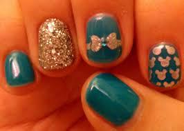 teal disney nails disney nails pinterest disney nails teal