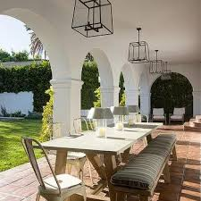 concrete patio dining table wood and concrete outdoor dining table design ideas