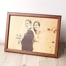 3rd wedding anniversary gift ideas leather photograph engraved picture on real leather 3rd wedding