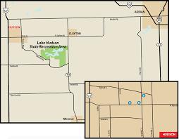 Adrian Michigan Map by Lake Hudson State Recreation Areamaps U0026 Area Guide Shoreline
