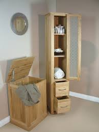 Bathroom Furniture Oak Oak Glazed Bathroom Cabinet