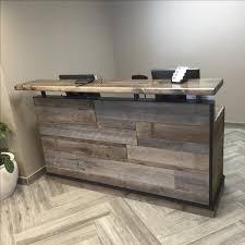 Buy Reception Desk Desk Buy A Made Reclaimed Distressed Wood Reception Desk Or