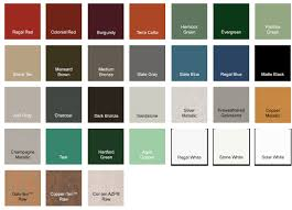 Berridge Metal Roof Colors by Standing Seam Metal Roofing Colors